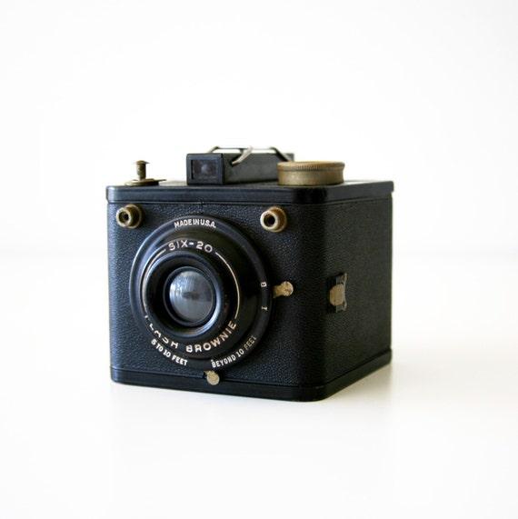 kodak six 20 flash brownie box camera 620 film camera. Black Bedroom Furniture Sets. Home Design Ideas