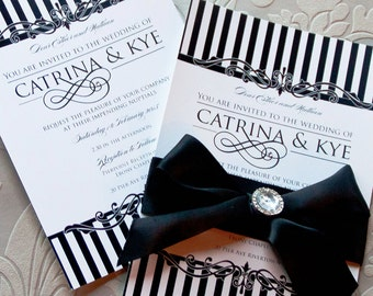 Enamoured Wedding Invitations: sample