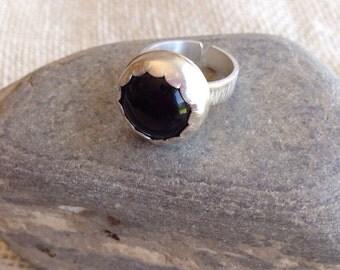 Distressed Onyx Ring