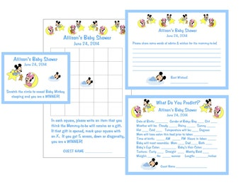 Baby Mickey & Minnie Baby Shower Game Package