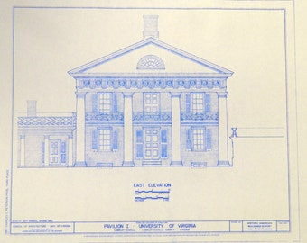 University of Virginia Pavilion I Blueprint