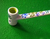 mid century modern MCM  tobacco pipes googie mod atomic age mad men ceramic blue green white classy unique one off design Christmas gift