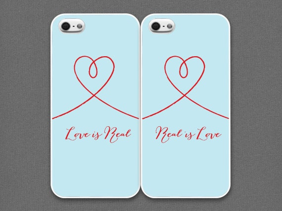 iPhone 4 / 4s Case -Valentines Day /  Love is Real, Real is Love (set of 2 cases per order),iPhone4 Case, iPhone4s Case