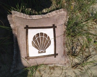 Seashell Appliqué Pillow