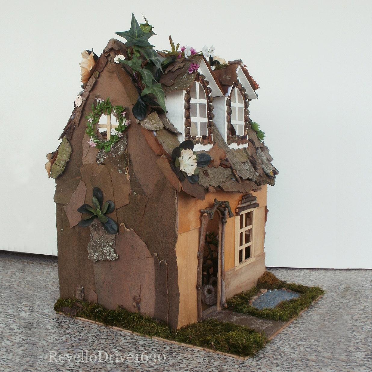feen elfen haus komplett m biliert unikat puppenhaus. Black Bedroom Furniture Sets. Home Design Ideas