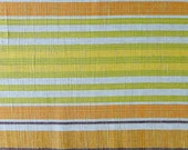 Vintage swedish table runner yellow, orange and green