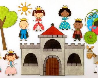 Prince and Princess Fairy Tale Felt Board Story Set