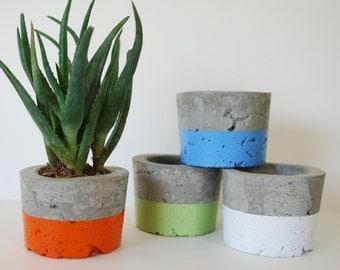 Concrete Planters - Set of 4 - Indoor Outdoor Planters - Succulent Planter