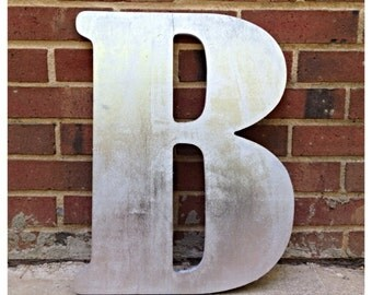 Giant Painted/Stained Letters Customize to Match Your Wedding Guestbook Alternative