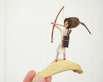 Boys Mobile,  The archer, Eco friendly Mobile. Natural decor, bow and arrow