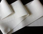 Makuba White Grosgrain Ribbon - by the yard