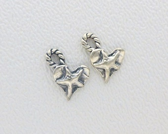 One LIL' Heart of the West Charm in Sterling Silver