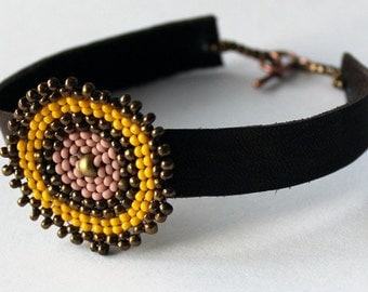 Leather Bracelet {HAITI}