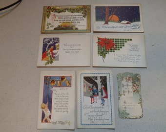 Lot of Vintage Antique Christmas Post Cards