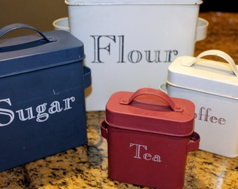 Vintage Metal Storage Containers