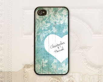 Personalized Bride cell phone case iPhone 4 4s 5 5s 5c 6 6+ plus Samsung Galaxy s3 s4 s5 Bride to be, Shower Gift, Floral heart B4275