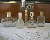 Vintage Glass Perfume Bottles Small Miniature Mini Five Glorious Wind Song Van Cleef and Arpels