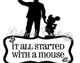 It all started with a Mouse - Disney Inspired Car Decal