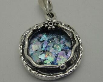 Beautiful Woman Pendant, 925 Sterling Silver Pendant, Ancient Roman Glass Pendant, Roman Glass Jewelry