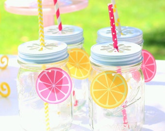 Lemon Drink Tag (12)-  Pink Lemonade Party