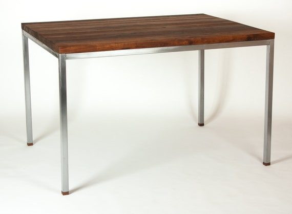 Rimworld Butcher Table In Kitchen : Items similar to Black Walnut Butcher Block Kitchen Dining Table With Modern Stainless Steel ...