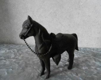 1950's Pot Metal Bronze-Looking Horse