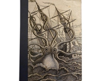 Vintage Release The Kraken Folio Case. iPad 2/3/4, iPad Air, iPad Air 2