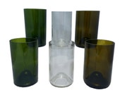 Repurposed Wine Bottle Glasses 12 oz