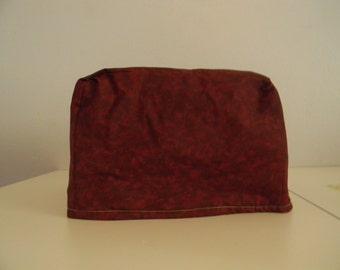 Toaster Cover - 4 slice -Burgundy/Garnet Print Fabric