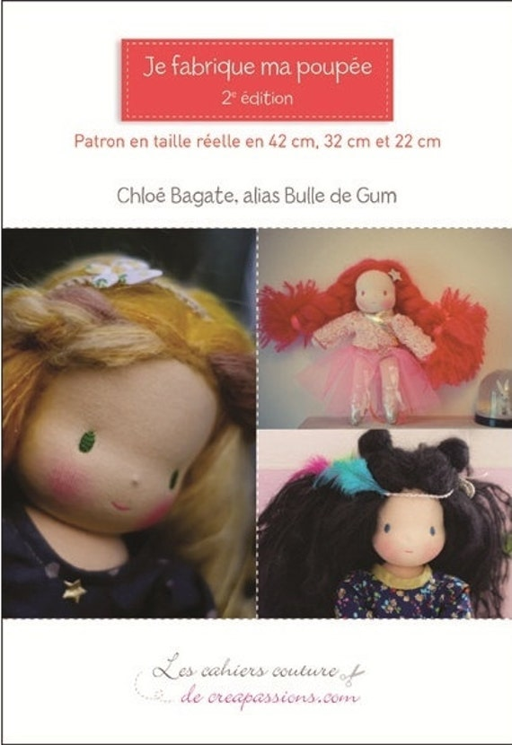 Inspired Waldorf Doll Making, Craft Little Book, three sizes 22 cm (8,50 inch) 32cm (12 inch) and 42 cm (16 inch)