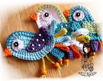 Crochet PATTERN, Applique, Little Bird, DIY Pattern 9