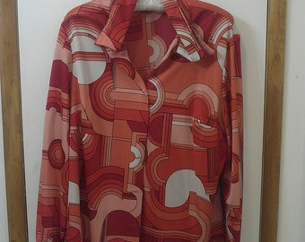 1970's groovy vintage womens blouse