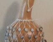 Axatse (medium-small Ewe-style netted gourd rattle)      FREE DOMESTIC SHIPPING