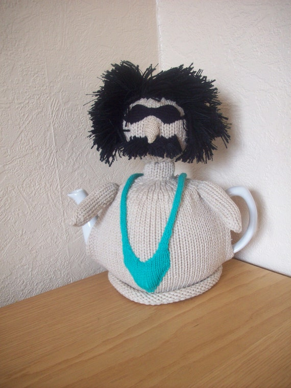 Knitted Tea Cosy  Cosie Cozy  Borat in his green Mankini Shabby Chic