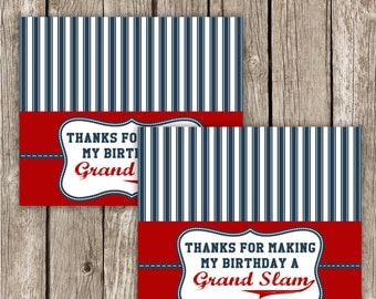 Baseball Treat Bag Toppers - DIY Printable - Instant Download