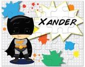 Personalized Superhero Puzzle - Bat Kids, Super kids, Kids Gift, Personalized Puzzles for Kids, Kids Personalized Puzzle