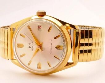 Mercury Claro Men's Watch 1970's Swiss 1 Jewel Manual Movement