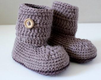 Baby crochet booties wool