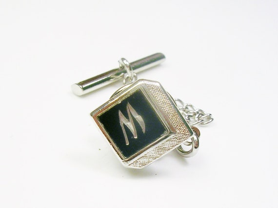 Vintage swank initial tie pin tie tack by unclesteampunk for What is swank jewelry