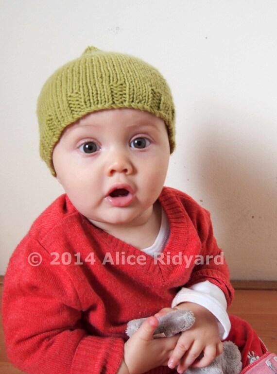 Easy Pixie Hat Knitting Pattern : gumnut baby pixie hat pattern - pdf knit pattern - easy ...