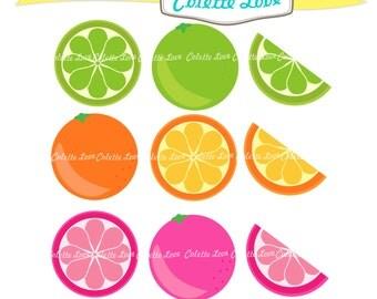 Cetrus clip art , lemon clip art,summer fruit clip art, card making, scrapbooking ,PNG and JPEG, instant download