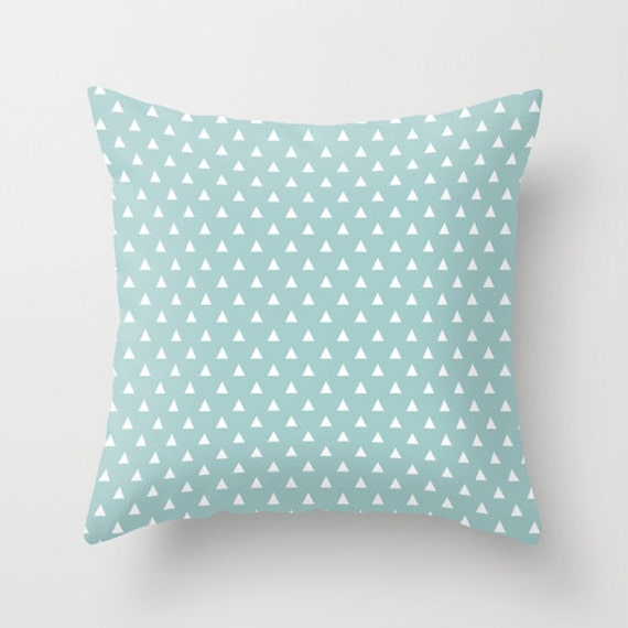 Light Blue Patterned Throw Pillow : LIght blue decorative throw pillows tiffany blue pillow cover