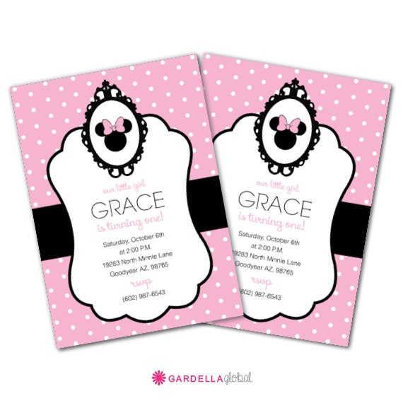 Minnie Mouse Baby Invitations was great invitations sample