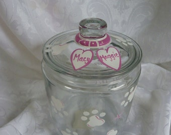 Kitty Paws Hand Painted Treat Jar