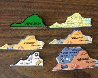 6 VIRGINIA puzzle pieces lot #1
