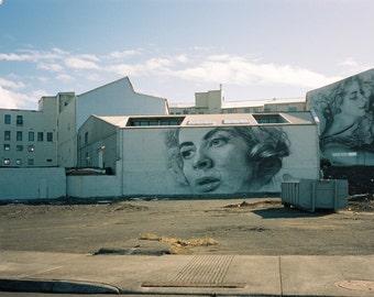 "Iceland Photography, Reykjavik, Street Photography, Graffiti, Street Art, Illustration 8"" x 10"""