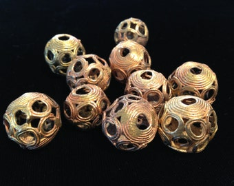 African Brass Trade Beads  4 Beads For Each Purchase