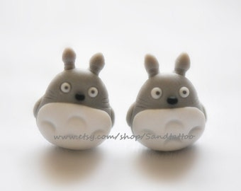 New -Design 1 Pair Of Adorable Totoro Dangling Earrings, Chomper Earring, Unique Earrings, Cute Earrings, My Neighbor Totoro