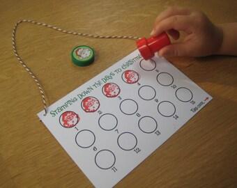 Advent Calendar for Kids, Christmas Countdown, Christmas Craft, Christmas Decor