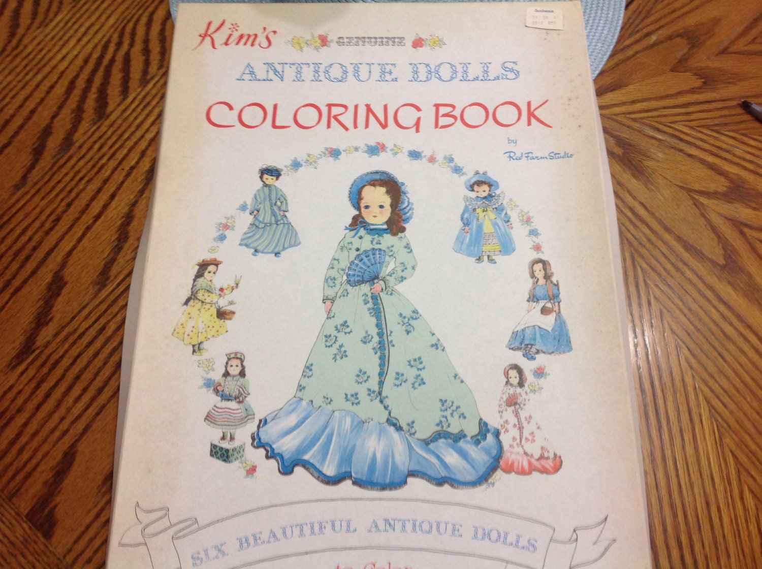 Vintage Antique Doll Coloring Book Kim s Genuine Antique